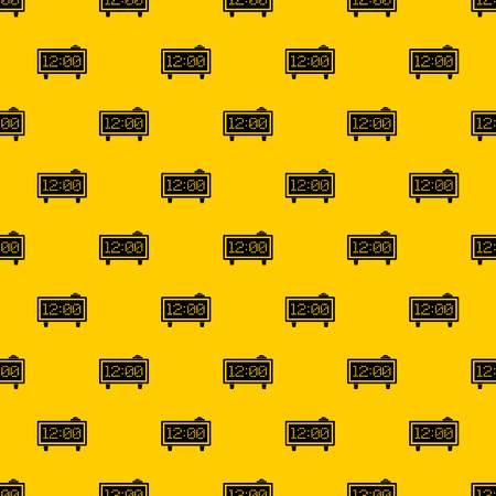 Alarm clock pattern seamless vector repeat geometric yellow for any design