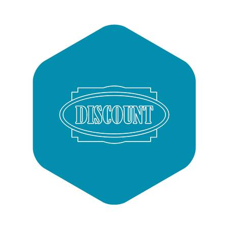 Discount label icon. Outline illustration of discount label vector icon for web