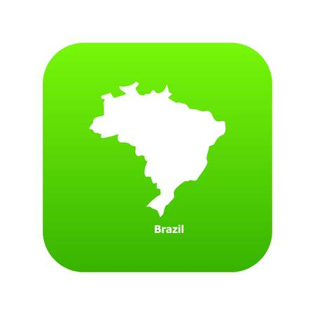 Brazil map icon. Simple illustration of brazil map vector icon for web Illustration