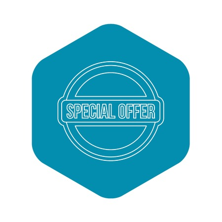 Special offer circle label icon. Outline illustration of special offer circle label vector icon for web