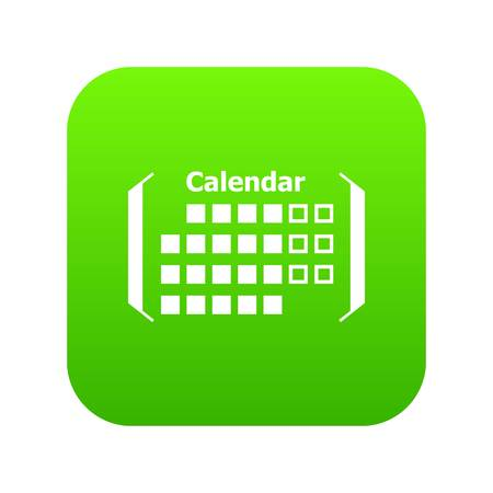 Information calendar icon, simple style Vettoriali