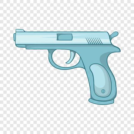 Gun icon, cartoon style
