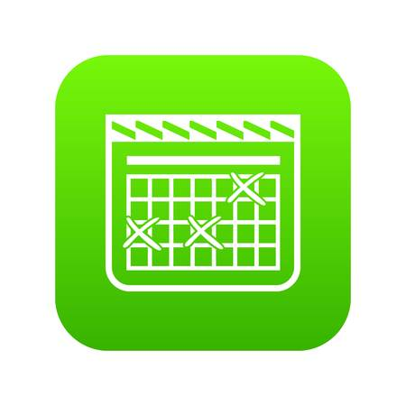 Calendar for schedule icon, simple style