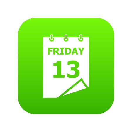 Friday calendar icon, simple style