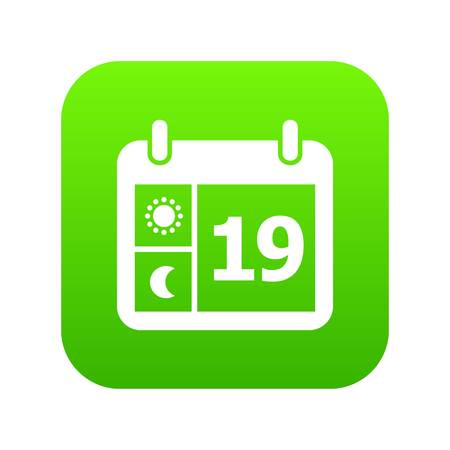 Weather calendar icon, simple style Vettoriali