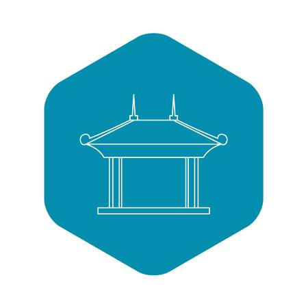 Pagoda pavilion icon. Outline illustration of pagoda pavilion vector icon for web