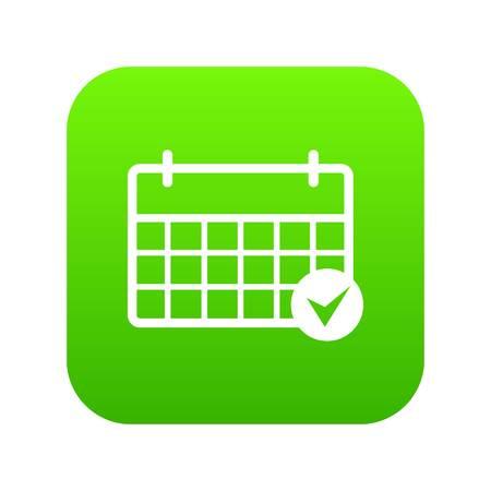 Marcatura dell'icona del calendario, stile semplice