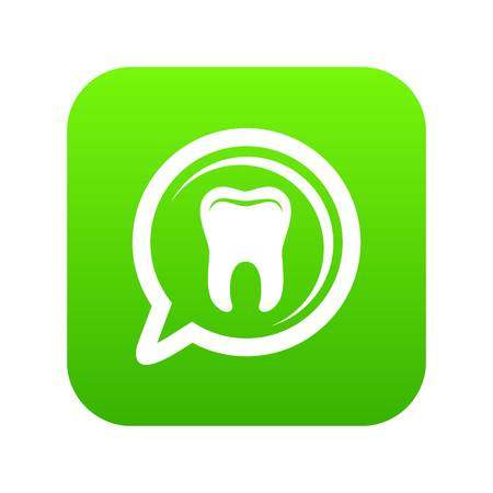 Explore tooth icon, simple style