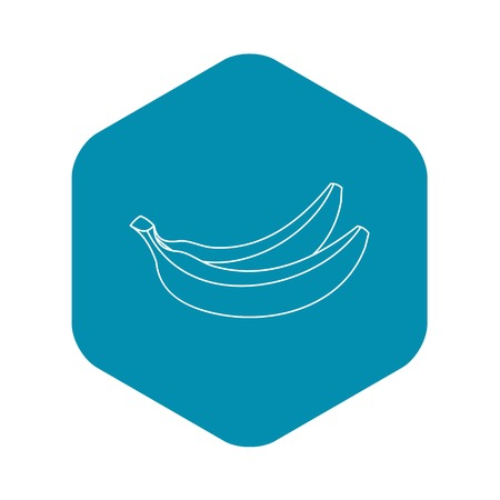 Banana fruit icon. Outline illustration of banana fruit vector icon for web