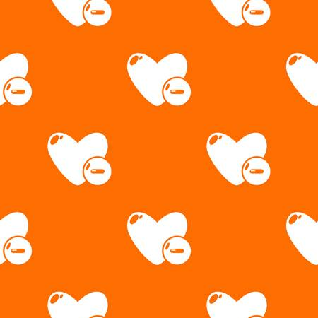 Dislike pattern vector orange for any web design best
