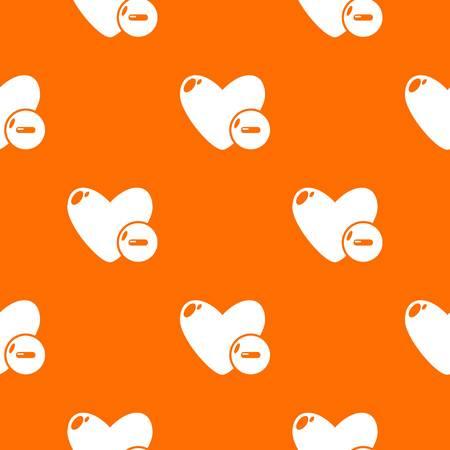 Dislike pattern vector orange for any web design best