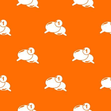 Dialog pattern vector orange for any web design best