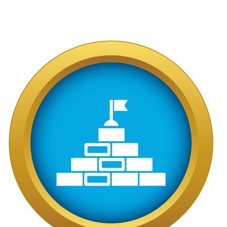 Teamwork brand icon blue vector isolated Illustration