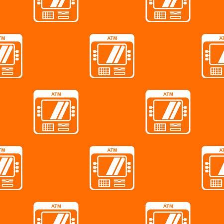 Computer pattern vector orange