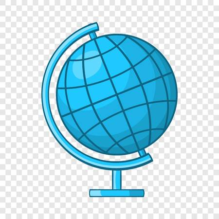 Icône de globe en style cartoon