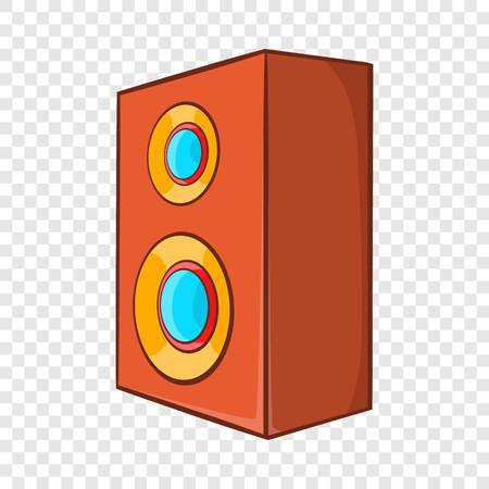 Brown speaker icon in cartoon style 일러스트
