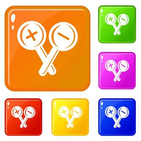 Ophthalmology test icons set vector color Zdjęcie Seryjne - 119023458