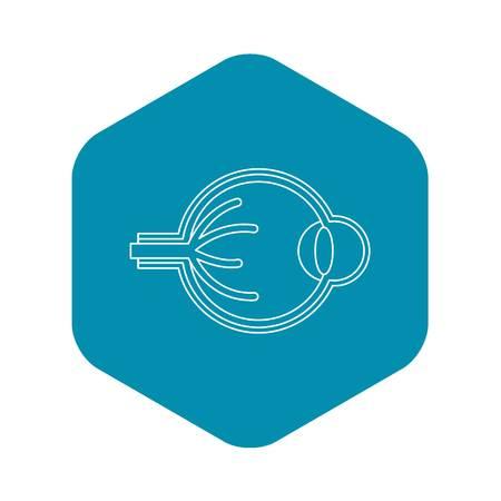 Eyeball icon. Outline illustration of eyeball vector icon for web