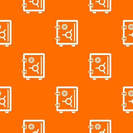 Safe pattern vector orange