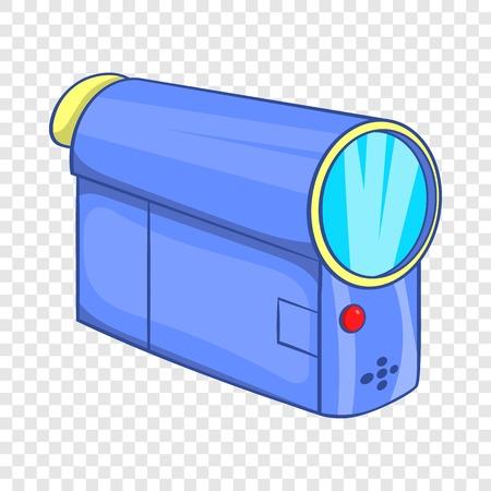 Camcorder icon in cartoon style Ilustração