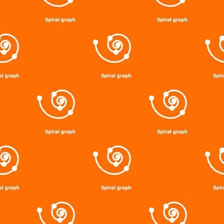 Spiral graph pattern vector orange