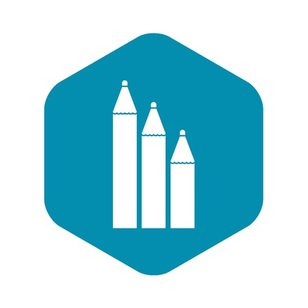 Three pencils icon in simple style isolated vector illustration