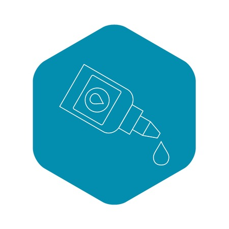 Eye drops bottle icon. Outline illustration of eye drops bottle vector icon for web
