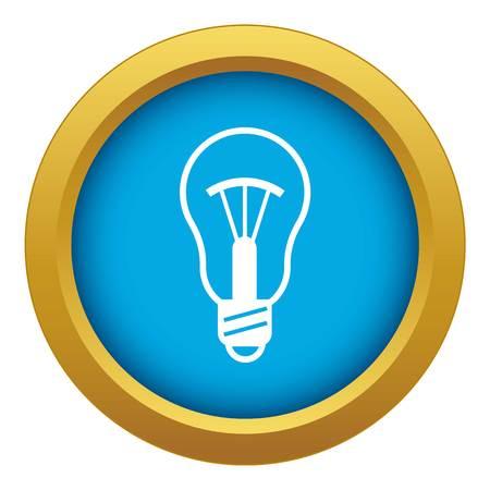 Generation bulb progress icon blue vector isolated Illustration