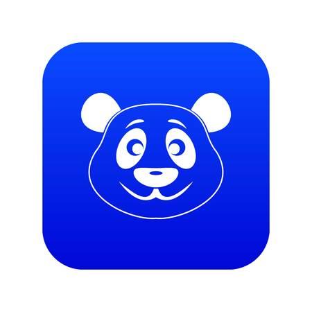 Panda icon digital blue for any design isolated on white vector illustration Illustration
