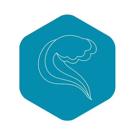 Water wave icon. Outline illustration of water wave vector icon for web