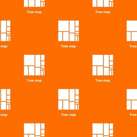 Tree map pattern vector orange
