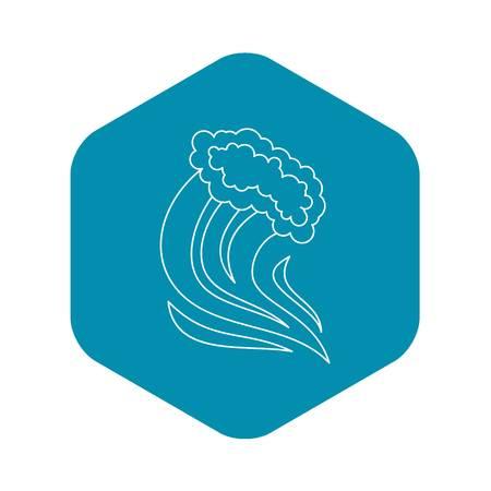 Foamy splash icon. Outline illustration of foamy splash vector icon for web Illustration