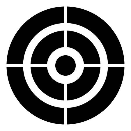 Arch target icon, simple style