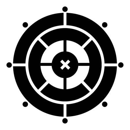 Modern target icon, simple style Illustration