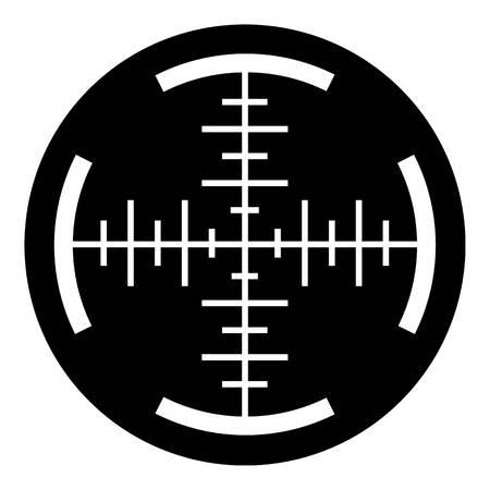Sniper crosshair icon, simple style
