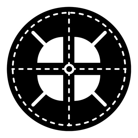 Military crosshair icon. Simple illustration of military crosshair vector icon for web design isolated on white background