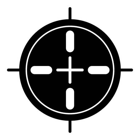 Sport sniper aim icon. Simple illustration of sport sniper aim vector icon for web design isolated on white background