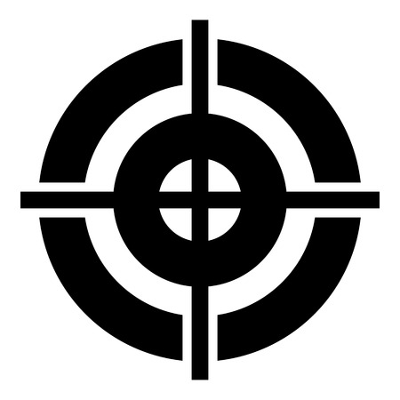 Sport target icon, simple style