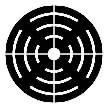 Shotgun target icon, simple style Illustration