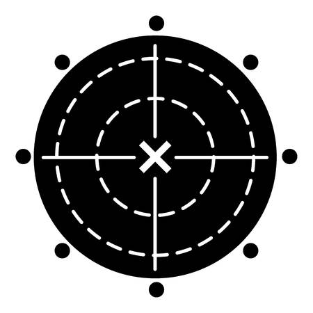 Weapon target icon, simple style Illustration