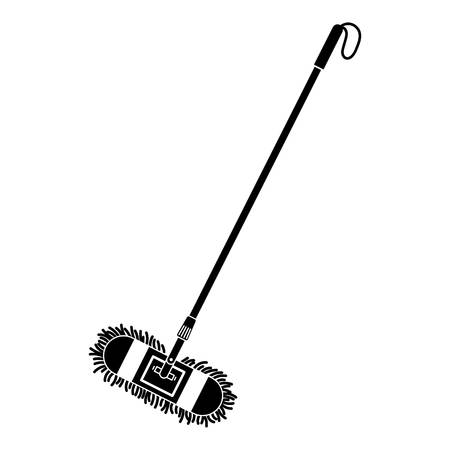 Cleaning mop icon, simple style Иллюстрация