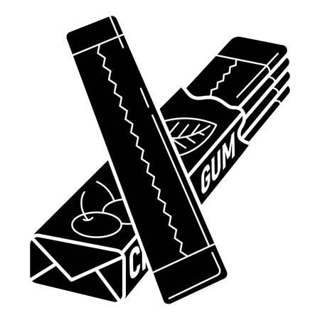 Kaugummi-Stick-Symbol packen. Einfache Illustration der Vektorikone des Packgummistocks für das Webdesign lokalisiert auf weißem Hintergrund