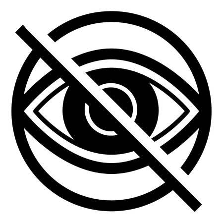 Blind eye icon. Simple illustration of blind eye vector icon for web design isolated on white background Illustration