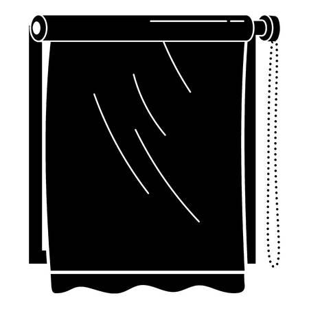 Window sun roller icon, simple style Vettoriali