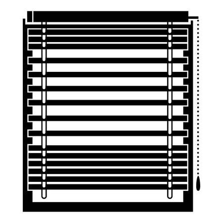Horizontal jalousie icon, simple style Ilustrace