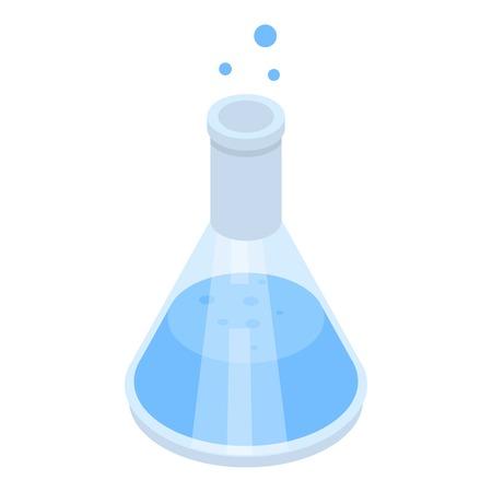 Chemical bottle icon, isometric style