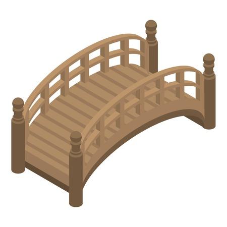 Icono de puente del parque. Isométrica del puente del parque icono vectoriales para diseño web aislado sobre fondo blanco.