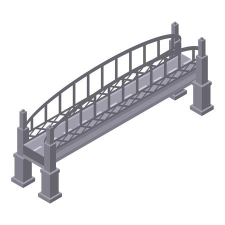 Metal bridge icon. Isometric of metal bridge vector icon for web design isolated on white background
