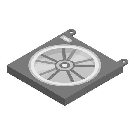 Car radiator icon, isometric style Vektoros illusztráció