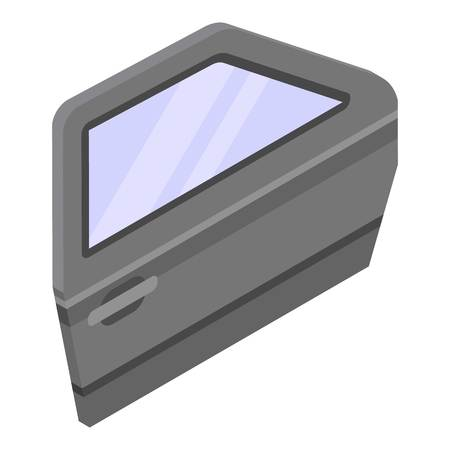 Car door icon, isometric style